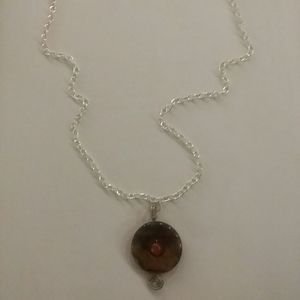 Jewelry - Wire wrapped tiger eye pendant
